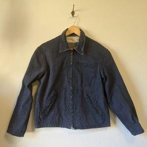 Vintage 60s work wear denim cropped jacket